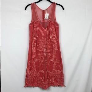 FREE PEOPLE Illusion Sweetheart A-Line Lace Dress